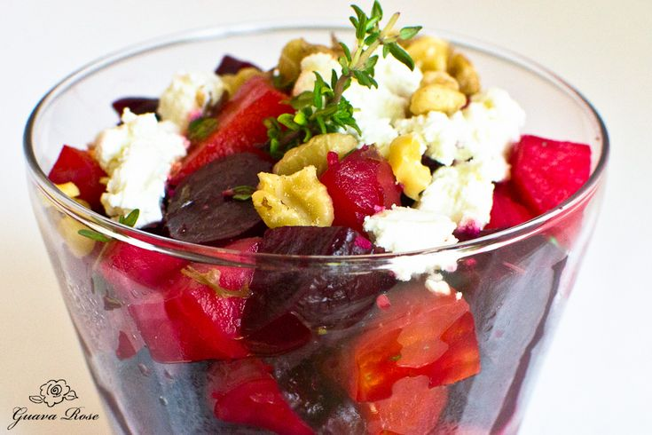 "Roasted Beet Salad with Goat Cheese and Walnuts ""I used my orange ..."