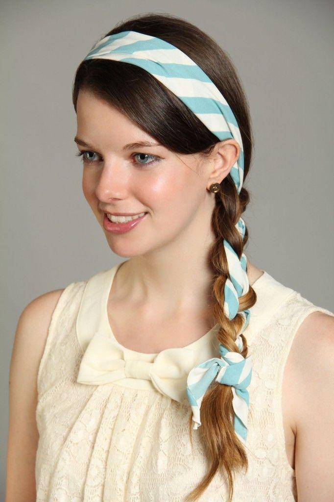 scarf braid hair