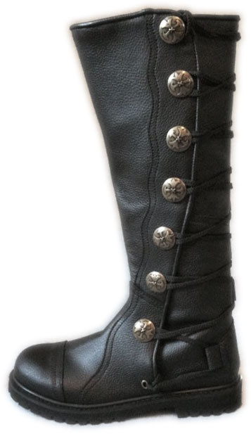 s black leather knee high ren boots my style