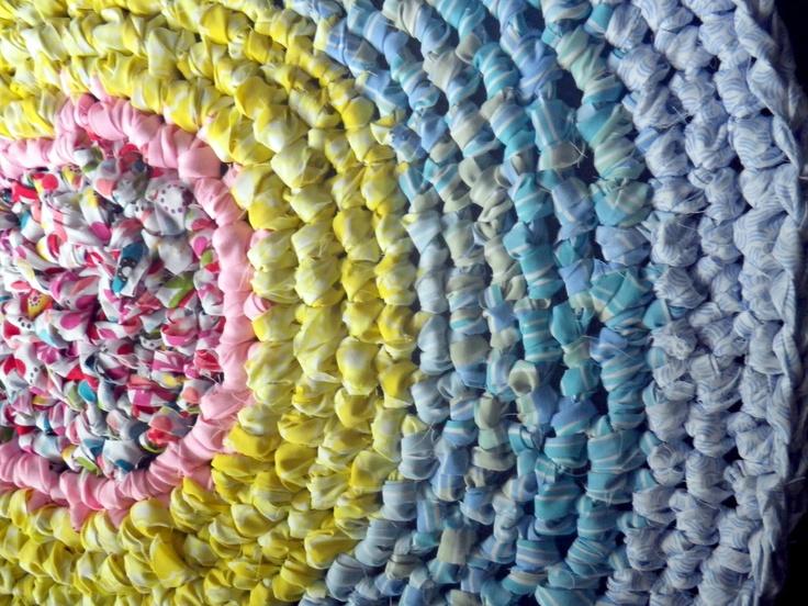 Crocheting Rag Rugs : Crocheted Rag Rug Crochet :) Pinterest