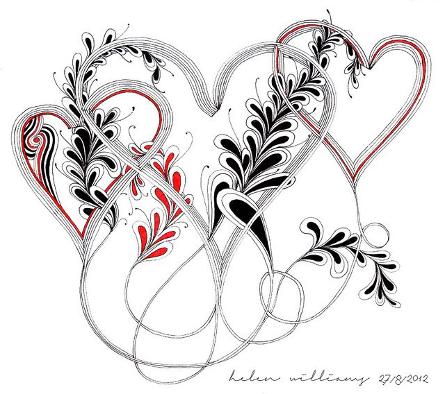 auraknot hearts by papernstuff, via Flickr