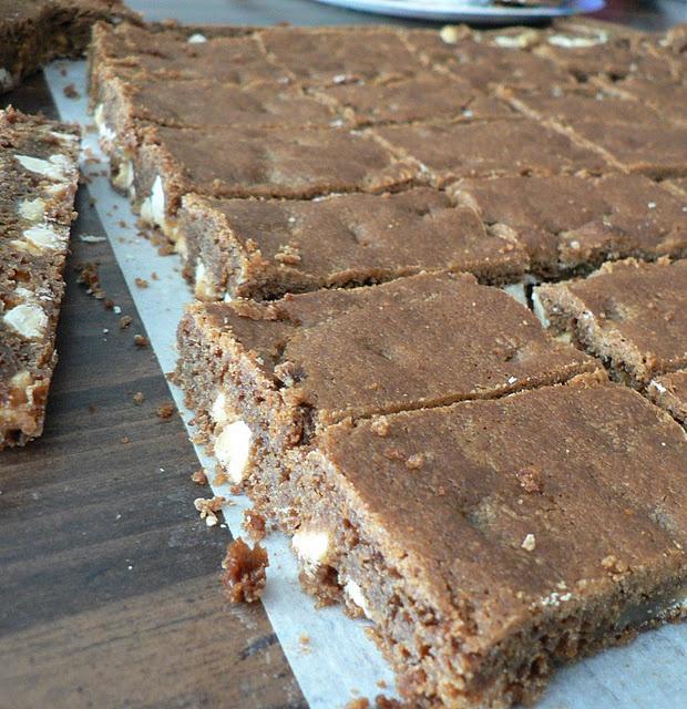 Chocolate Gingerbread Blondies - chocolate and crystallized ginger ...