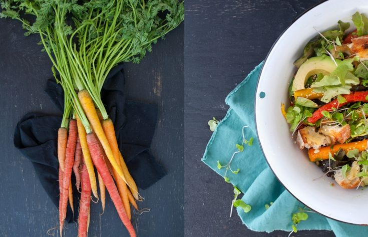 Some Kitchen Stories | Roast Carrot and Avocado Salad with Orange and ...