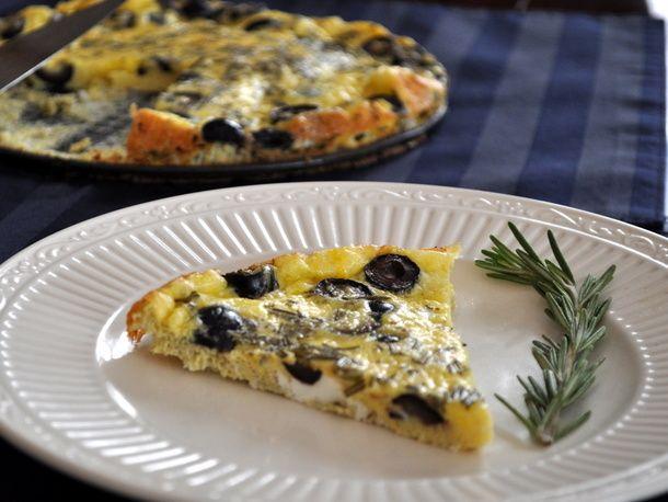 Baked Rosemary Olive Frittata | Recipe