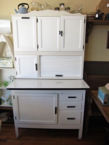restored vintage hoosier cabinet with flour bin metal counter top w