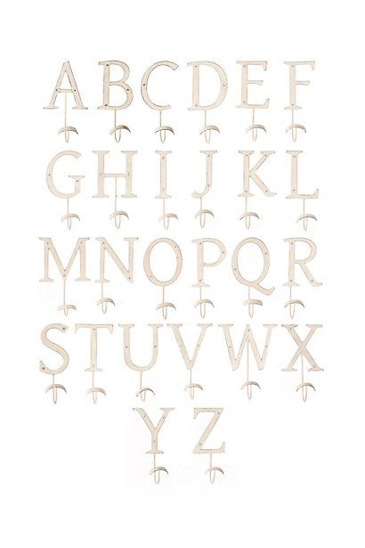 Letter Hooks - anthropologie.com