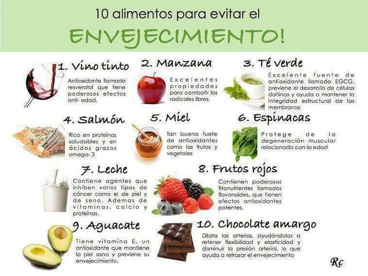 10 Alimentos para evitar el #Envejecimiento