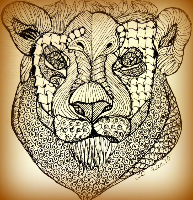 Zentangle Lion