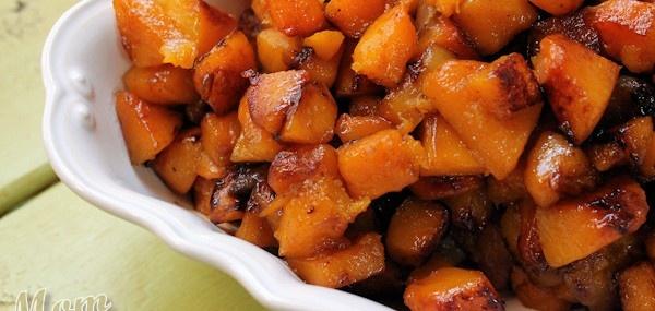 Roasted Apple-Butternut Squash with Maple Cardamom Glaze   Recipe