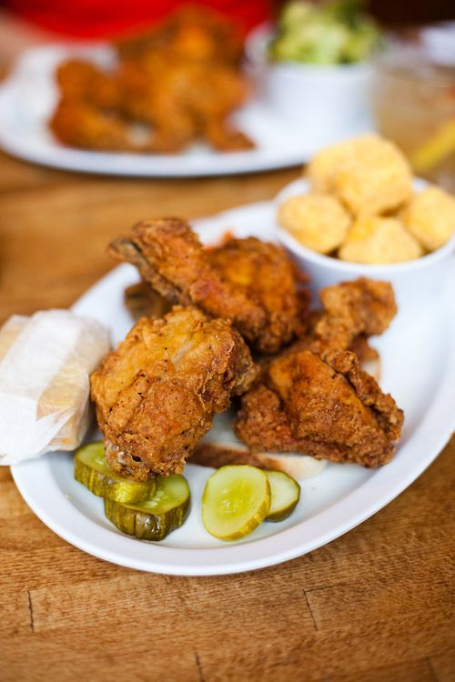 . The Hot Chicken is a Nashville style fried chicken. It is spicy ...