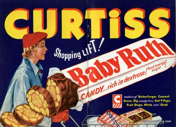 Ruth candy bars were not named after Babe Ruth. Baby Ruth candy bars ...