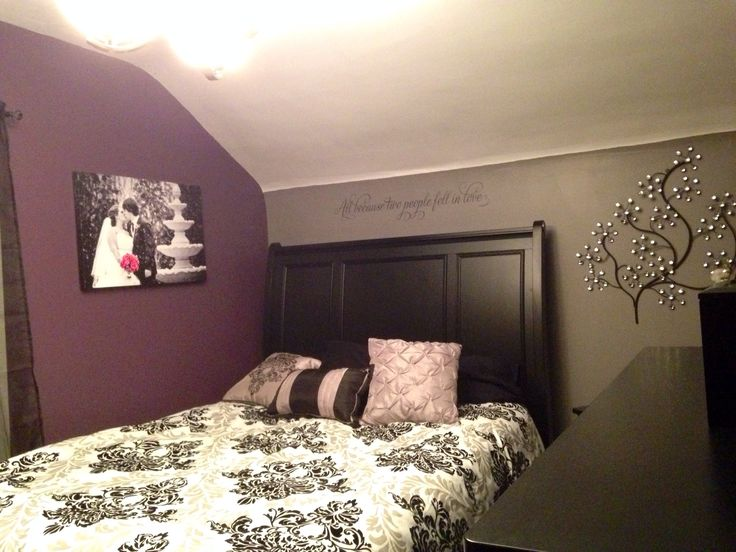 my purple and grey bedroom damask my diy pinterest