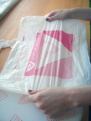 """How to fuse plastic bags together. I feel like this would be a great way to make a waterproof """"craft mat"""" for when I have kiddos. They could paint, glitter, glue, spill - and not stain anything. And if it gets damaged, who *doesn't* have a plethora of plastic bags laying around their house? Just make another!"""