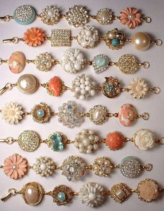 Make heirloom bracelets out of old earrings