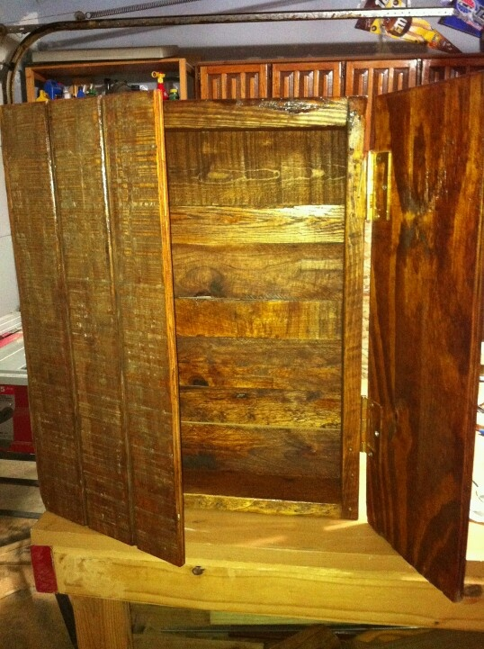 Cabinet made from a pallet things to do with pallets - Cupboards made from pallets ...