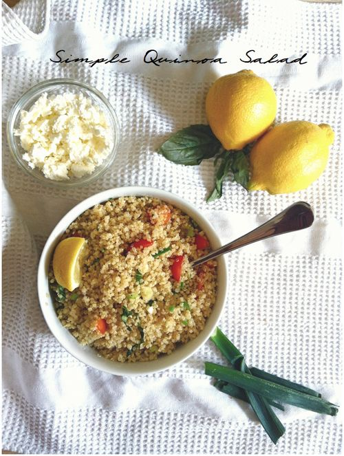 Simple Quinoa Salad   COOK   Pinterest