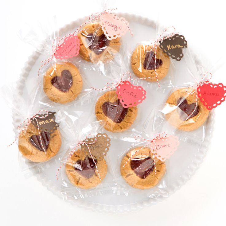Tobia Bakes: Peanut Butter and Jelly Heart Thumbprint Cookies, Tin or ...