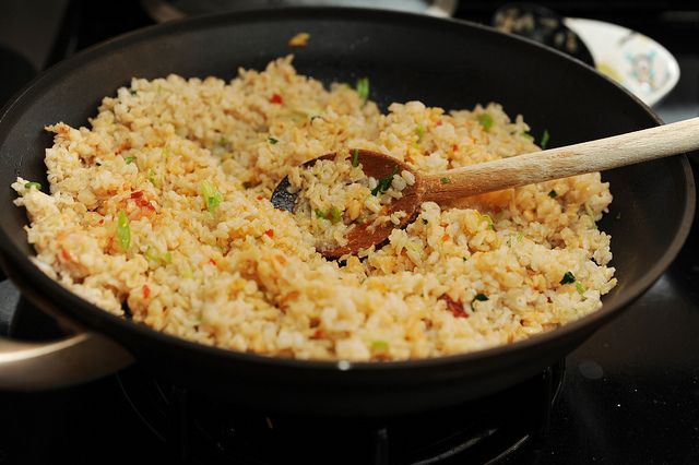 Coconut ginger fried rice -- I added a fried egg, shrimp, and a little ...