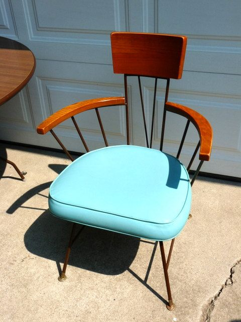 Mid Century Modern Dining Table And Chairs By VanSharpVintage