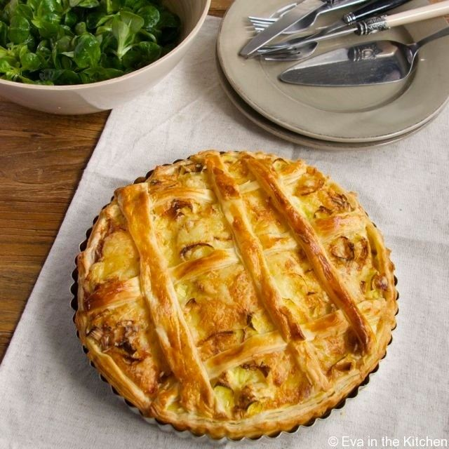 Quick Leek and Gruyère Quiche | quiche/savoury tarts-pies | Pinterest