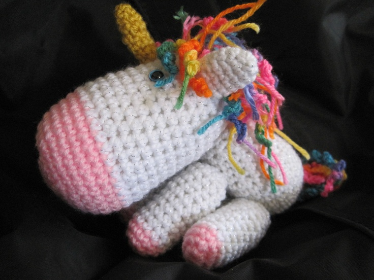 Crochet Unicorn : crochet unicorn Crafty Pinterest