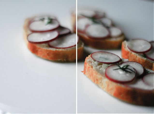 Radish Dill Tea Sandwiches - Always looking for recipes for radishes.