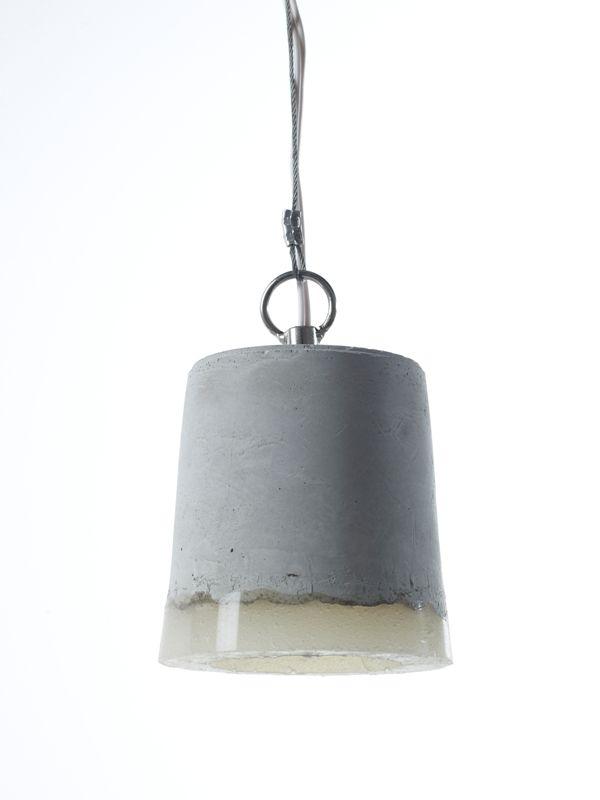 betonnen lamp  badkamer  Pinterest