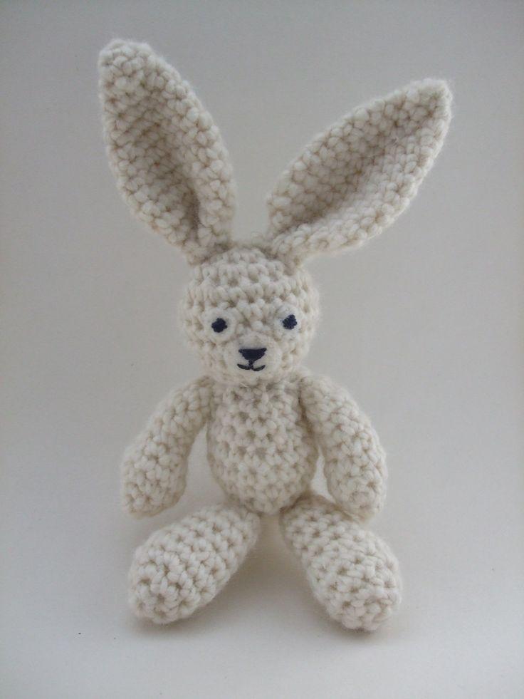 Free Crochet Pattern For Rabbit Ears : Big-Ears Bunny Crochet Pattern Crochet Amigurami Pinterest