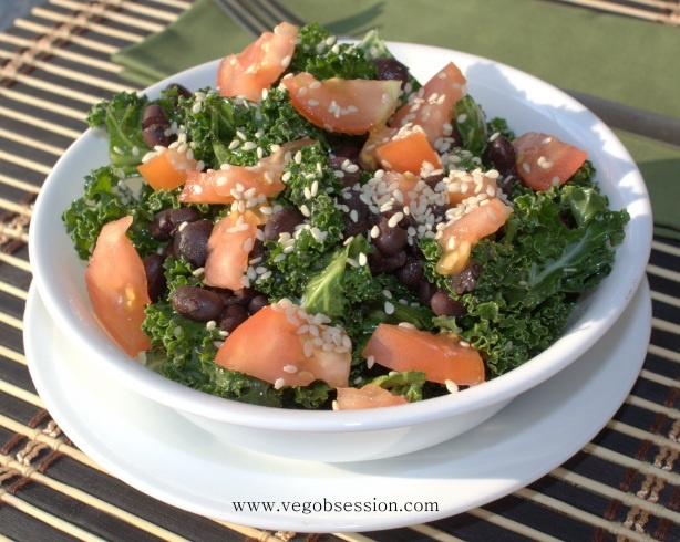 Tangy Sesame Kale Salad | YUM | Pinterest