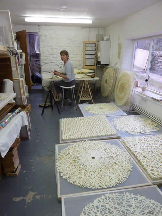 Gill Wilson's papermaking studio.