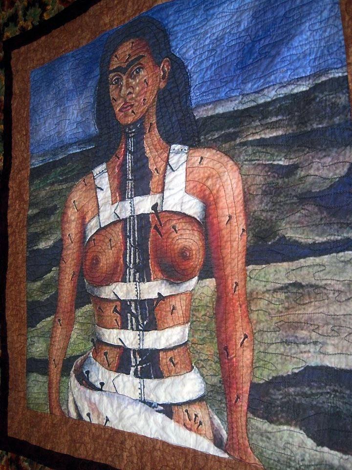 broken column by frida kahlo custom order full size quilt
