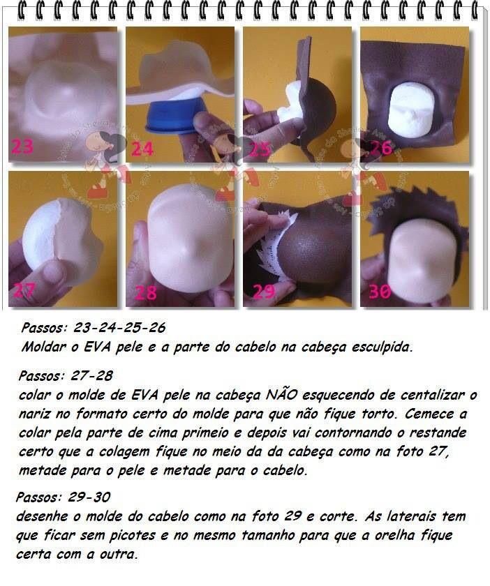 Barber Yard Chico : Carita3 Fofuchas con moldes, pap y videos Pinterest