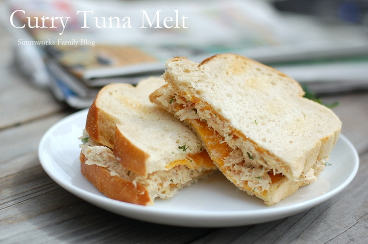 Curry Tuna Melt | Lunch Ideas | Pinterest