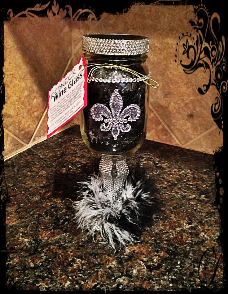 DIY Girly Redneck Wine Glasses Mason Jar Ideas Pinterest