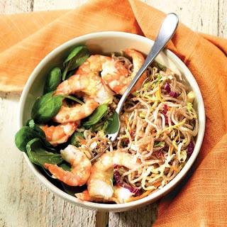 Shrimp and Soba Noodle Salad (Soba Noodles, Napa Cabbage, Orange ...