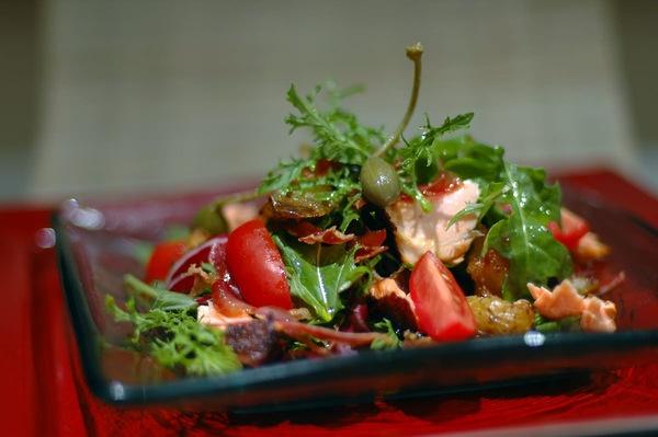 Tea-Smoked Shrimp Salad With Mango Recipe — Dishmaps