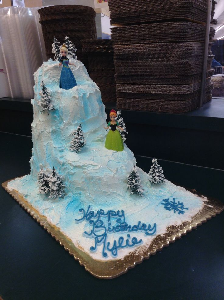 Birthday Cake Ideas Frozen Image Inspiration of Cake and Birthday