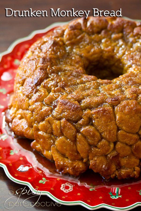 Drunken Monkey Bread | ASpicyPerspective.com ~T~ A great recipe that ...