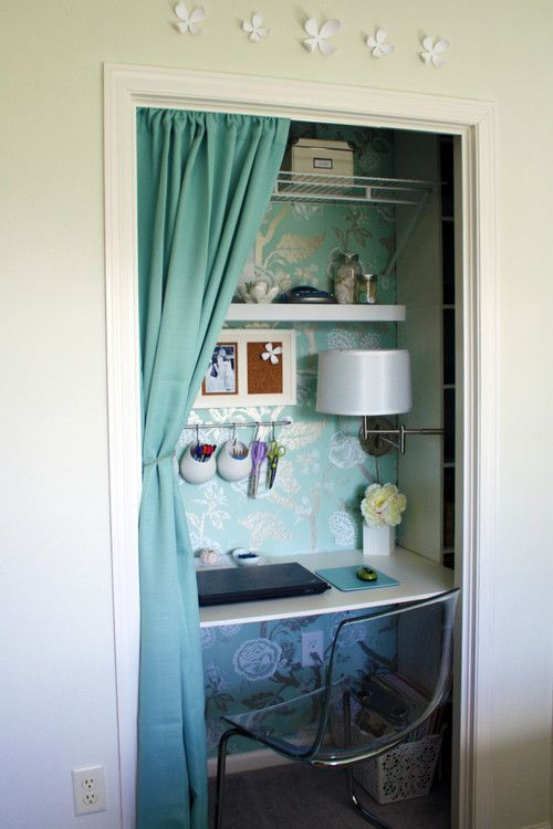 Desk In Closet Color Design Pinterest