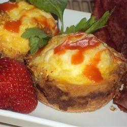 Mom's Baked Egg Muffins Allrecipes.com | Food | Pinterest