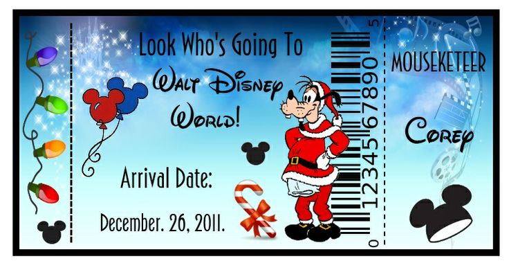 Looking 4 Disneyworld tickets to put under the Christmas tree!~ - The ...