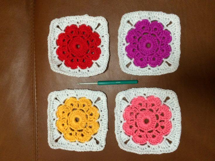 Maybelle flower crochet warm colours   Crochet   Pinterest