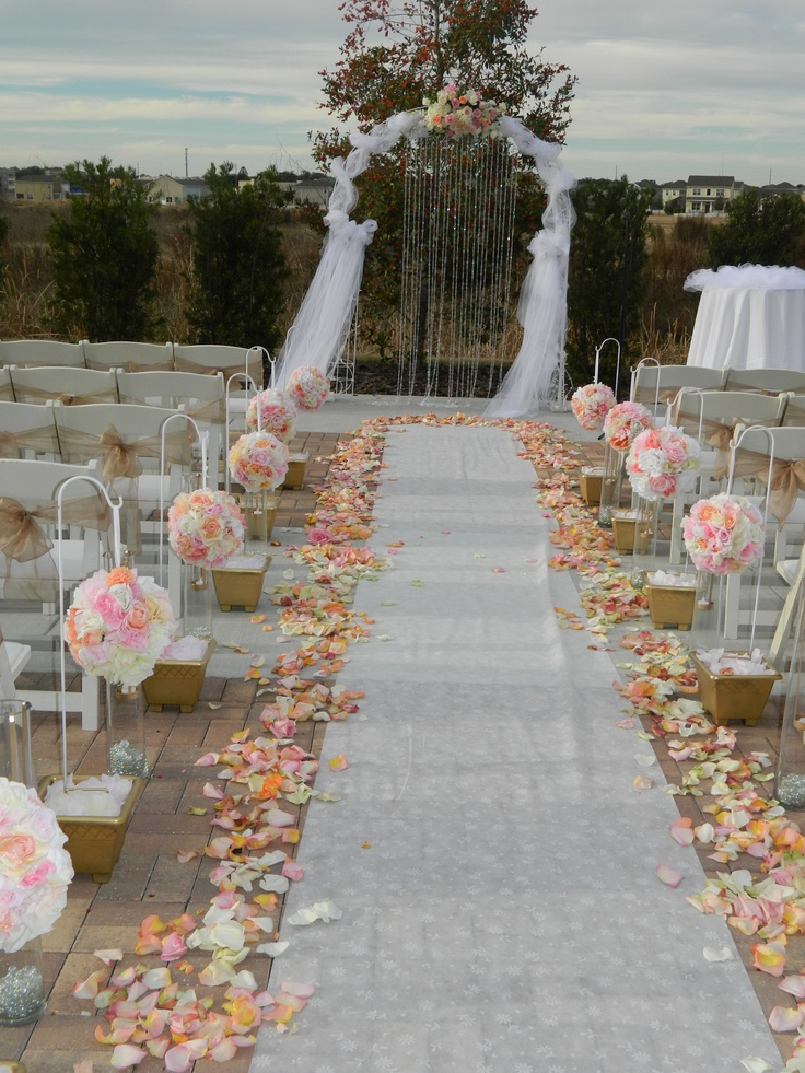 Outdoor Wedding Reception Decor Soft Pink And Tan