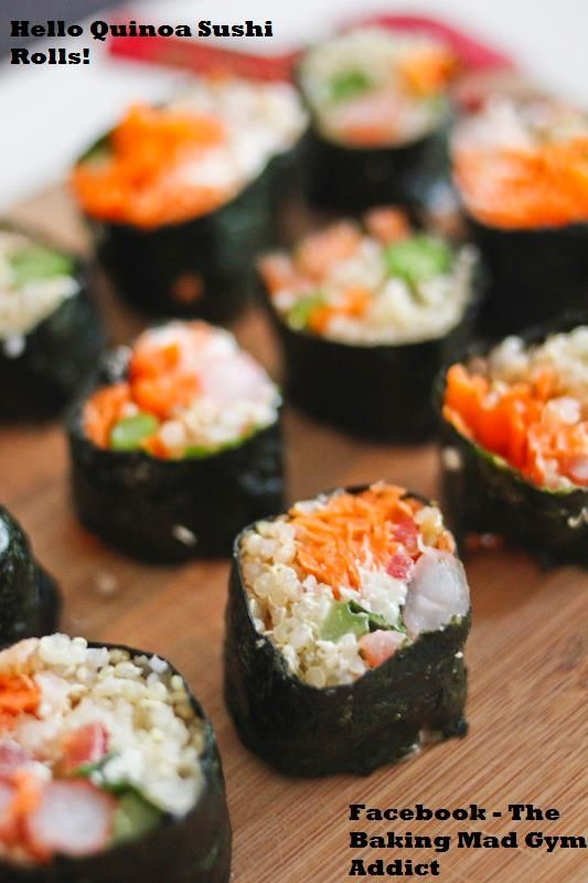 Quinoa Sushi | Creations of The Baking Mad Gym Addict | Pinterest