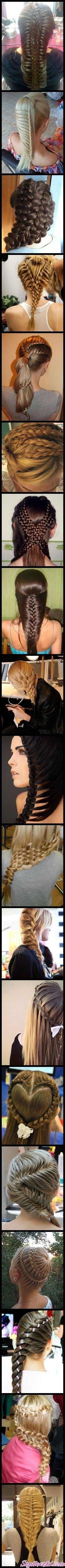 The french braid trend has gone a little crazy.  Seriously, how long does it take to do one of these?