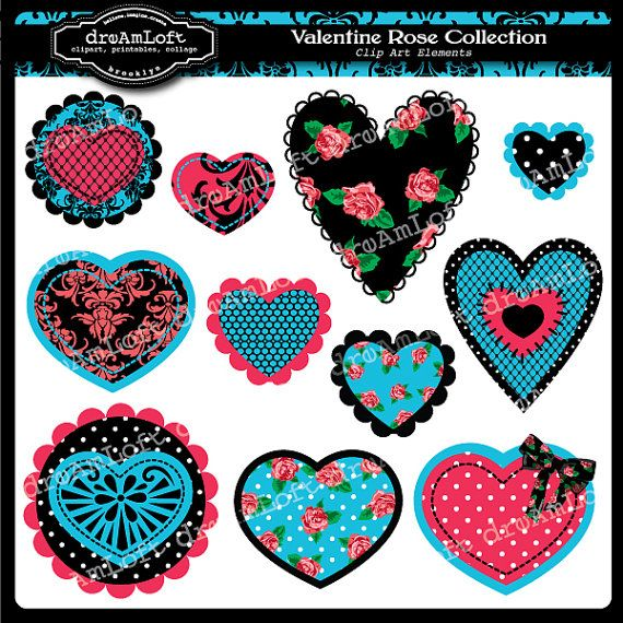 valentine rose clipart free