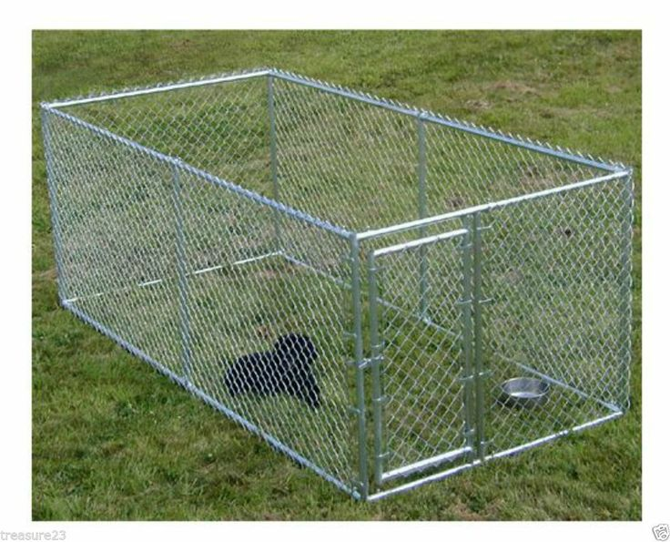 LARGE CHAIN LINK 4 39 X10 39 X5 39 DOG KENNEL PET PEN FENCE OUTDOOR NEW FREE