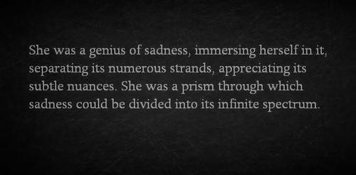Genius of sadness