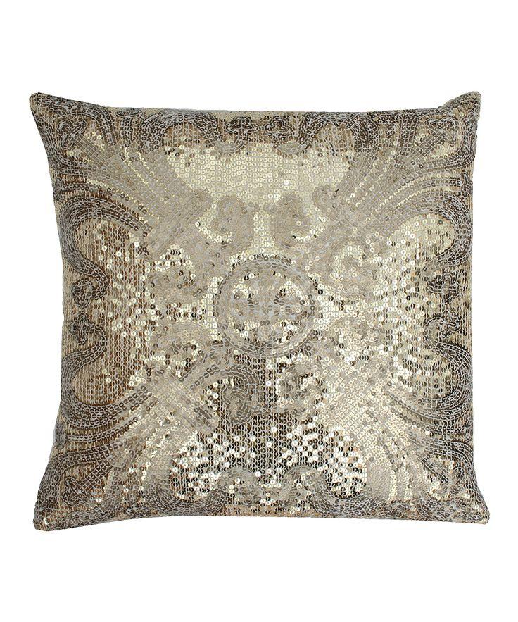 Gold Sparkle Throw Pillow : Gold Ludo Sequin Throw Pillow