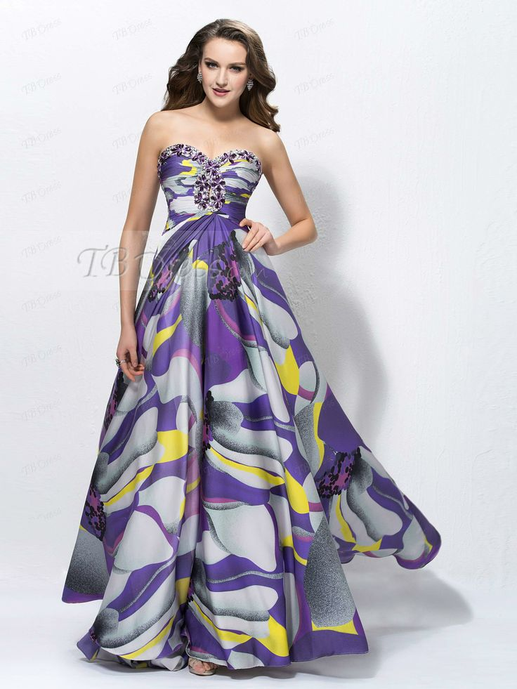 Sweetheart sequins zipper up pattern prom dress designed independently